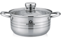 Кастрюля Eurostek ES-1076 (нерж. сталь, 2,5л.)