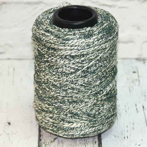 Хлопок с вискозой CASA DEL FILATO / CAPRI 150 зелено-белый с серебром