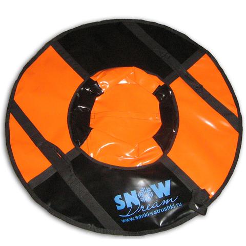 Санки-ватрушка SnowDream Classic Mini 80 оранжево-черная