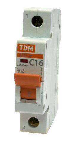 Авт. выкл.ВА47-29 1Р 16А 4,5кА х-ка В TDM