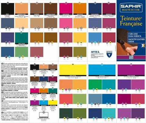 Универсальная краска для кожи Saphir Teinture Francaise 50 мл, (14 цветов)