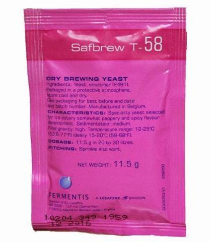 Дрожжи пивные Safbrew T-58 (11,5 гр) Fermentis