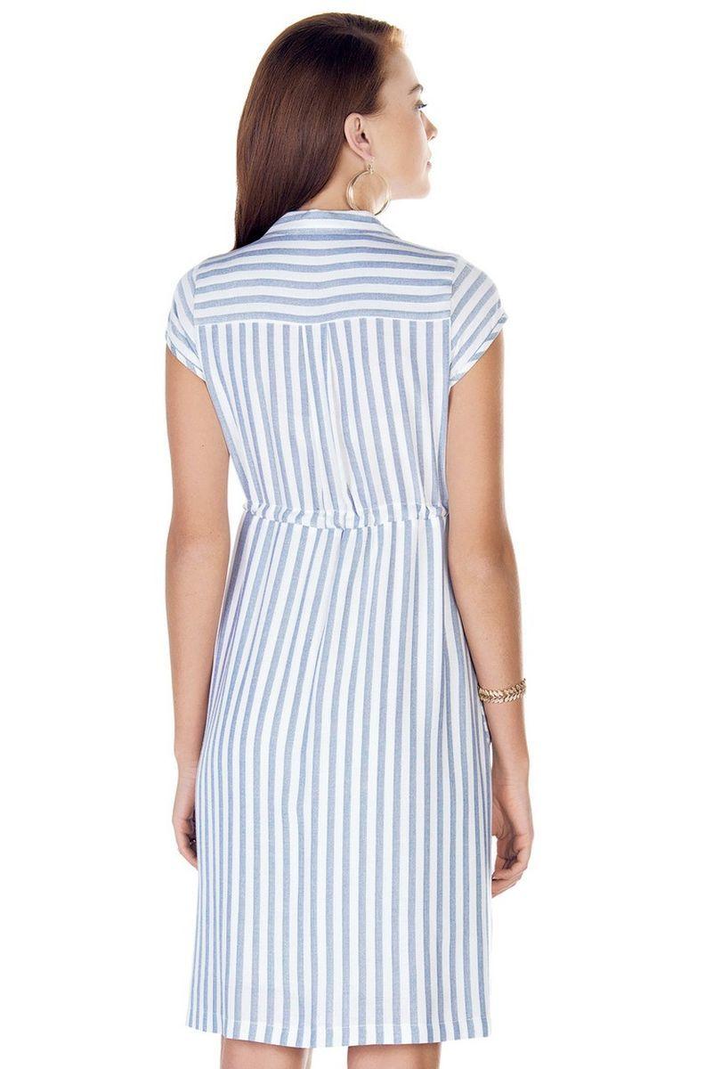 Фото платье для беременных EBRU от магазина СкороМама, цветной, полоска, размеры.