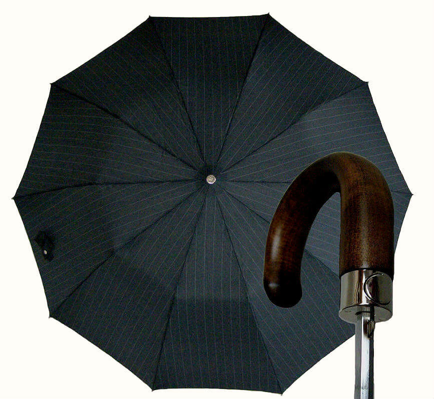 Зонт складной Guy de Jean 7036-strip Poignee Bois