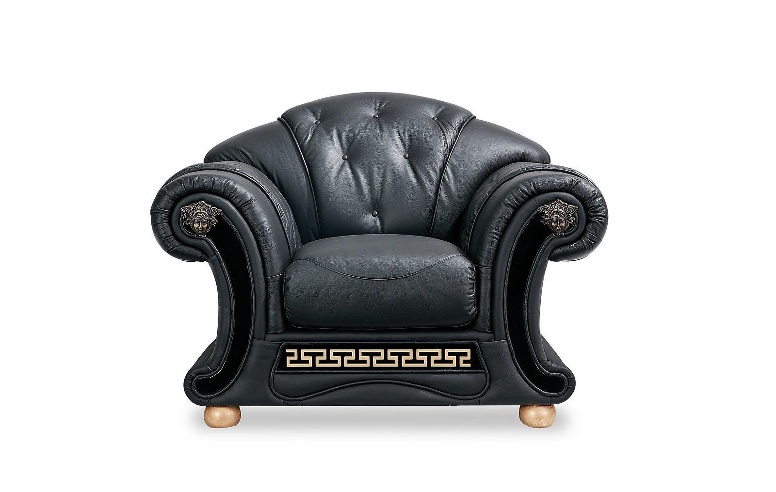 Кресло ESF Versace черный