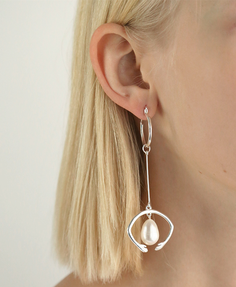 Серьги White Nights Dropping Arch Earpieces  silver