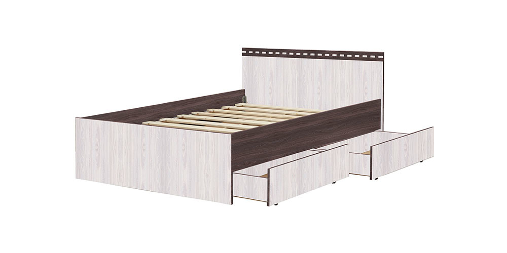 Кровать «Ольга-13»  800 (анкор темный/анкор светлый), ЛДСП, Фант-мебель, г. Волжск
