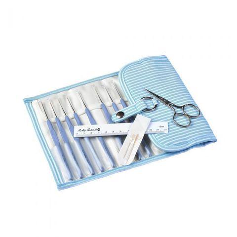 TULIP Набор крючков для вязания ETIMO, голубой в полоску