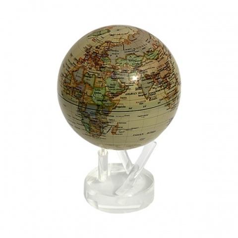 Глобус MOVA GLOBE Политическая карта мира, бежевый (16,5см)123
