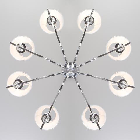 Подвесная люстра с абажурами 60097/8 хром