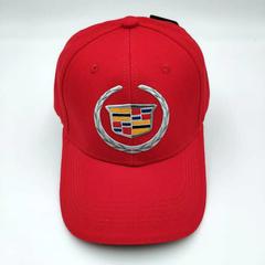 Кепка с логотипом Cadillac (Бейсболка Кадиллак ) красная