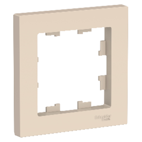 Рамка на 1 пост. Цвет Бежевый. Schneider Electric AtlasDesign. ATN000201