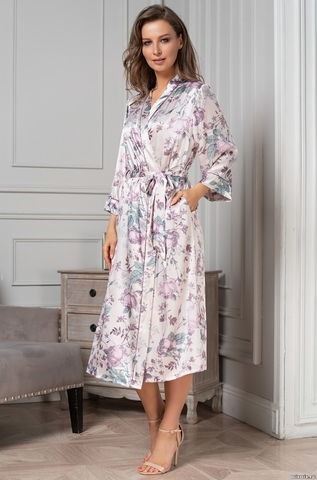 Длинный шелковый халат Mia Amore 3549 (70% нат.шелк)
