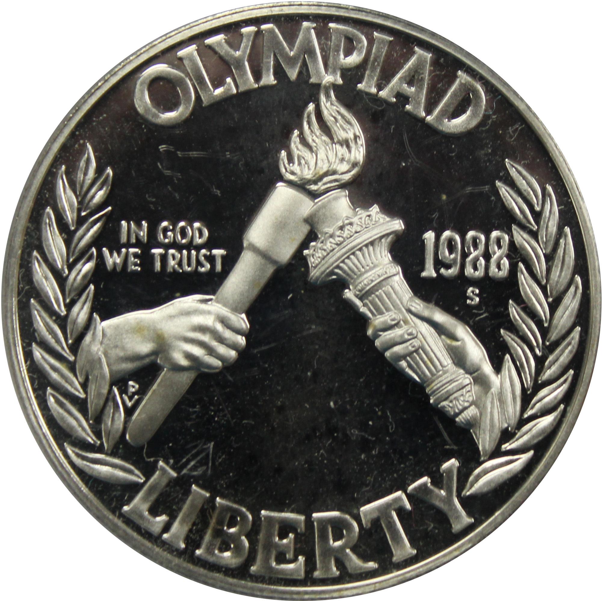 1 доллар. XXIV Летние Олимпийские игры в Сеуле. 1988 (S) PROOF Серебро
