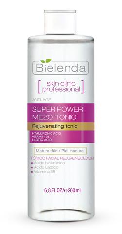 SKIN CLINIC PROFESSIONAL Активный омолаживающий тоник Anti-Age (Гиалуроновая кислота, Витамин B5 и Молочная кислота) 200 мл