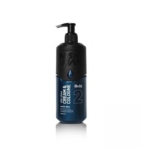 Крем после бритья NISHMAN 2 IN 1 ARCTIC BLUE, 400мл