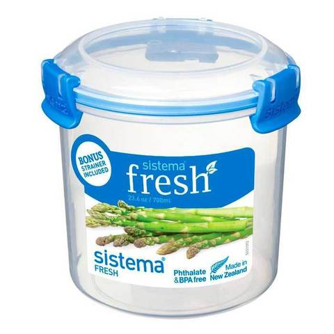 """Контейнер пищевой со вставкой ситом Sistema """"Fresh"""" 700 мл"""