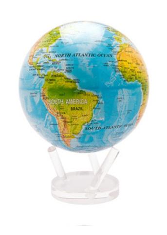 Глобус MOVA GLOBE Общегеографическая карта мира, бежевый (16,5см)123
