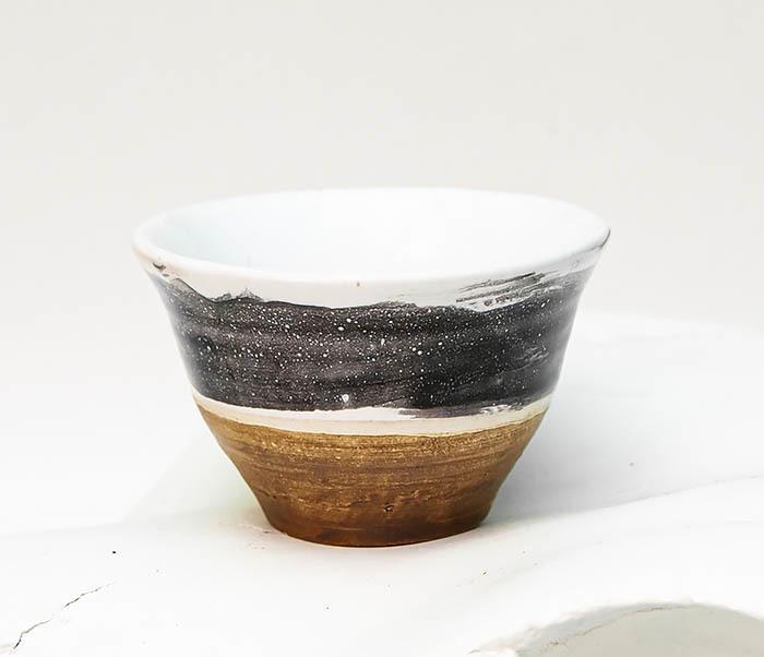 CUP101-3 Пиала ручной работы, керамика, серия «Млечный Путь»
