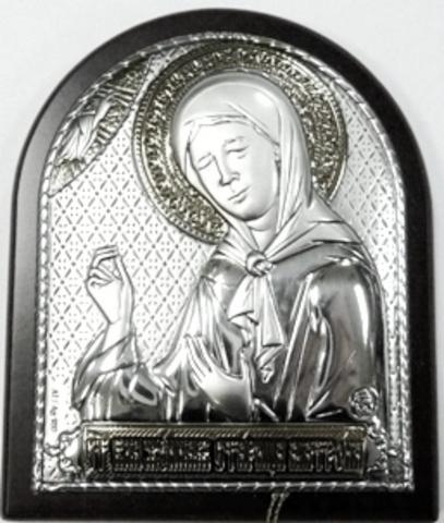 Серебряная икона Святой Блаженной Матроны Московской 8,5х7см