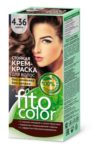 Фитокосметик Fito Color Стойкая крем-краска для волос тон Мокко 115мл