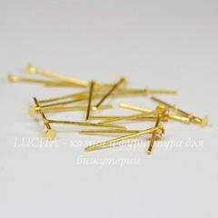 Комплект пинов - гвоздиков 18х0,8 мм (цвет - золото), 10 гр (примерно 120 шт)