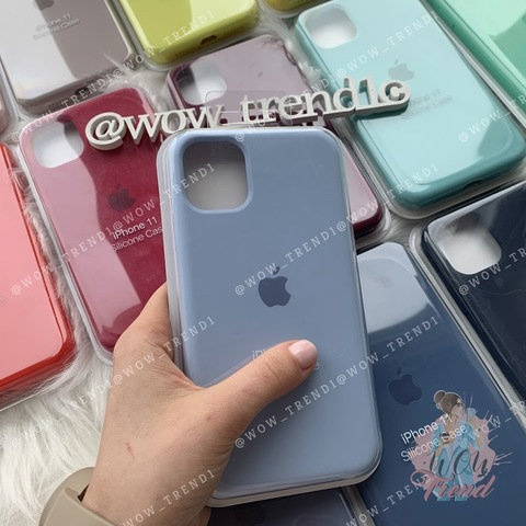 iPhone 11 Pro Max Silicone Case Full /lilac cream/