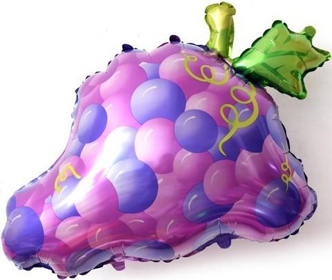 Фольгированный шар Виноград фиолетовый