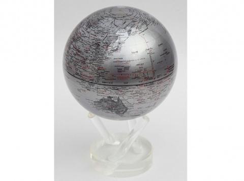 Глобус MOVA GLOBE Политическая карта мира, серебро (16,5см)123