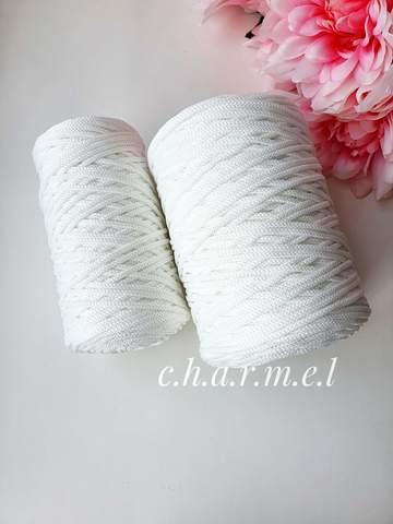 Белый Полиэфирный шнур 4 мм