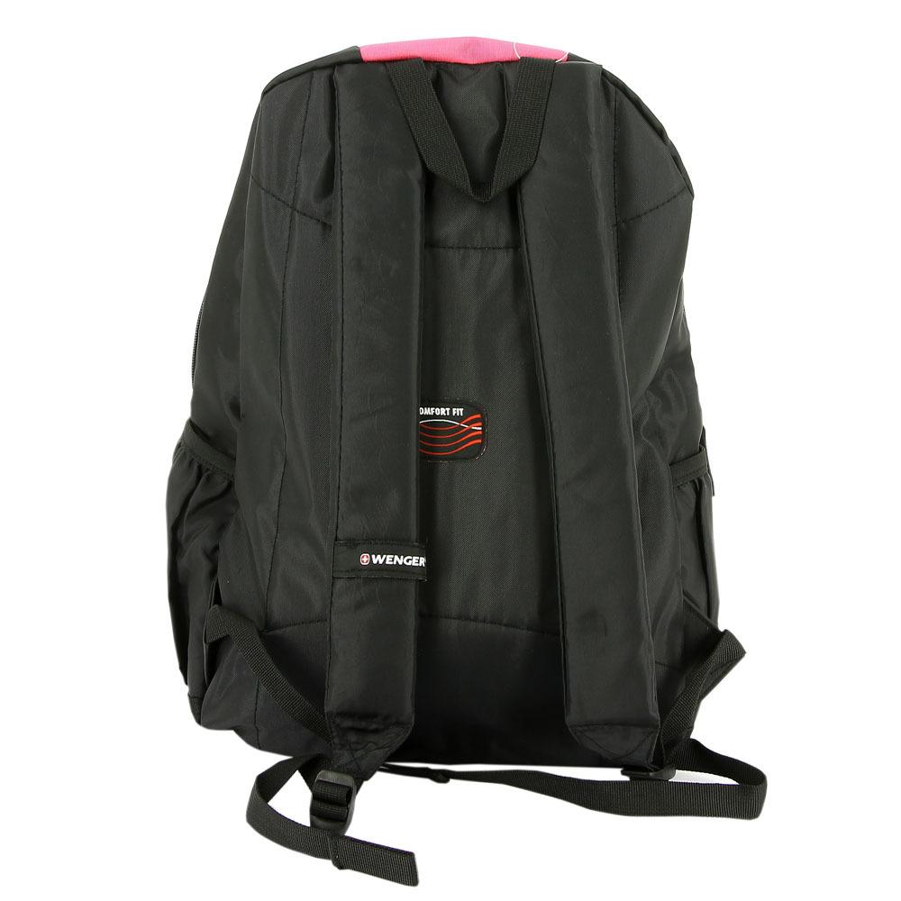 Рюкзак WENGER, цвет чёрный/розовый, 20 л., 45х32х14 см., 2 отделения (17222015)