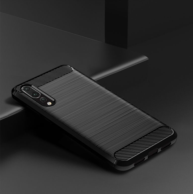 Чехол Huawei P20 Pro цвет Black (черный), серия Carbon, Caseport