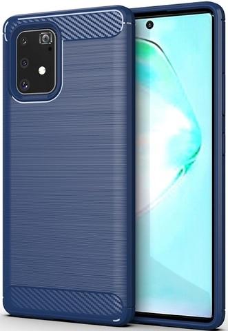 Чехол Samsung Galaxy A91 (M80S) цвет Blue (синий), серия Carbon, Caseport