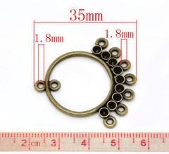 Коннектор (1-8) 35х34 мм (цвет - античная бронза)