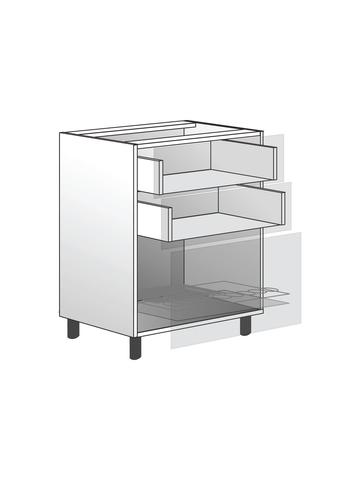 Напольный шкаф c 2 ящиками и сушилкой, 720х600 мм