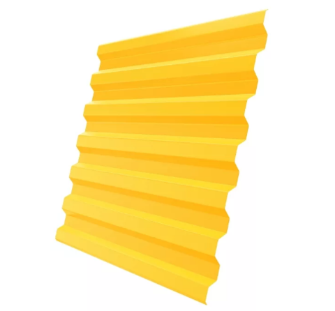 Профнастил С21х1051 мм RAL 1018 Желтый