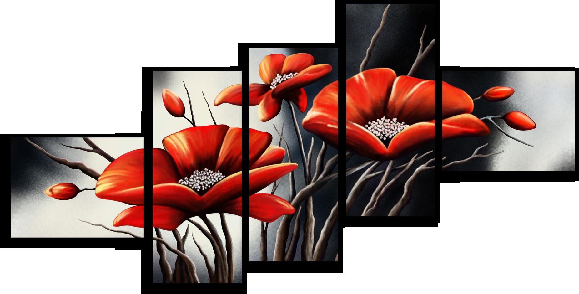 "Цветы Модульная картина ""Яркие бутоны"" М442.png"