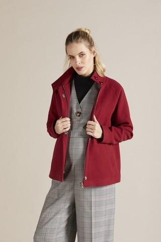 Пальто для беременных 09729 темно-красный