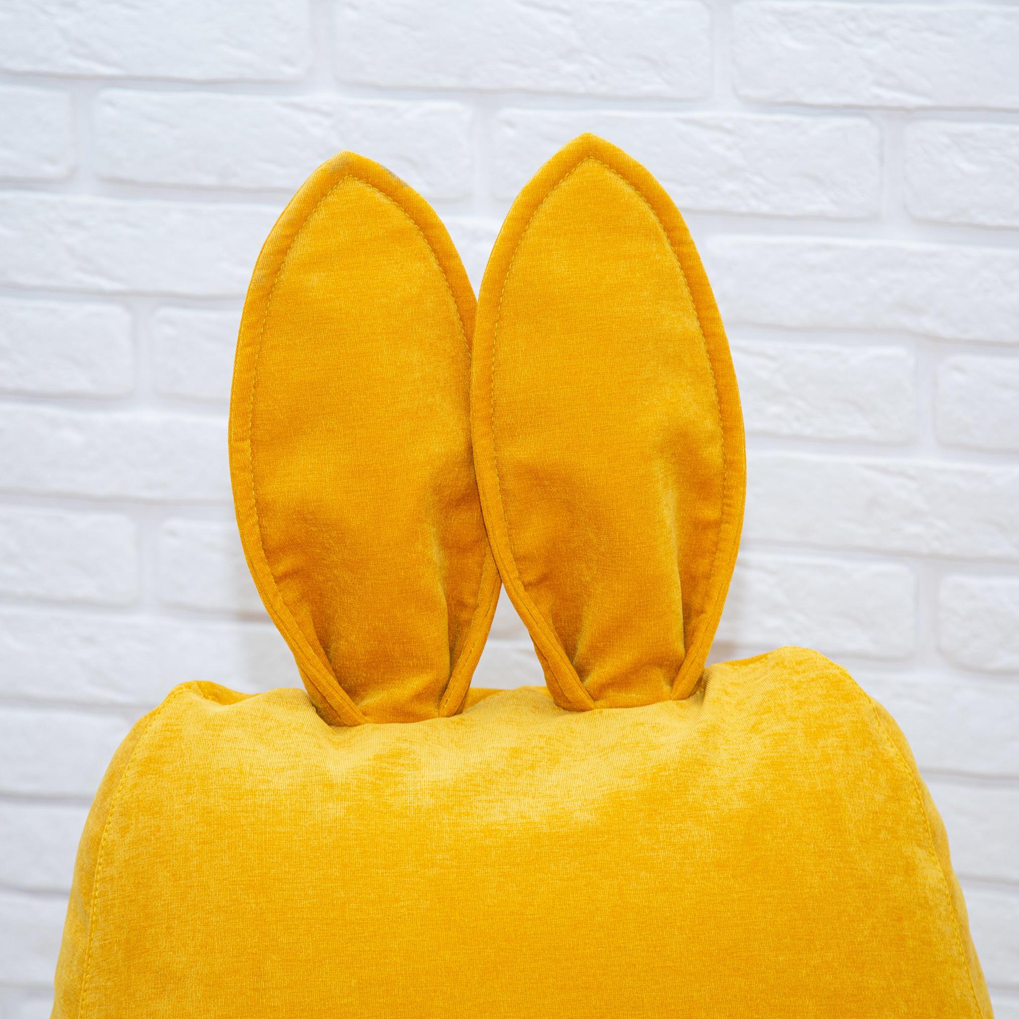 Кролик S микровельвет (горчичный)