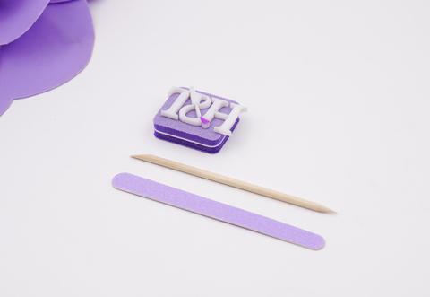 Индивидуальный набор № 1 (пилка, мини-баф, апельсиновая палочка)