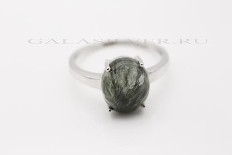 Кольцо с серафинитом из серебра 925