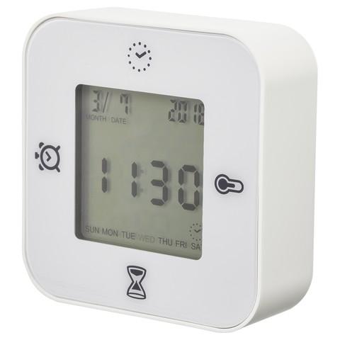 КЛОККИС Часы/термометр/будильник/таймер белый