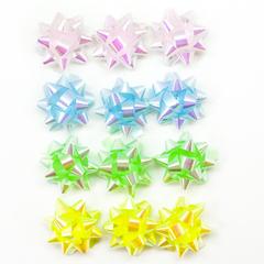 Бант Звезда, Светлый микс, Ассорти, Перламутр, 5 см, 25 шт.