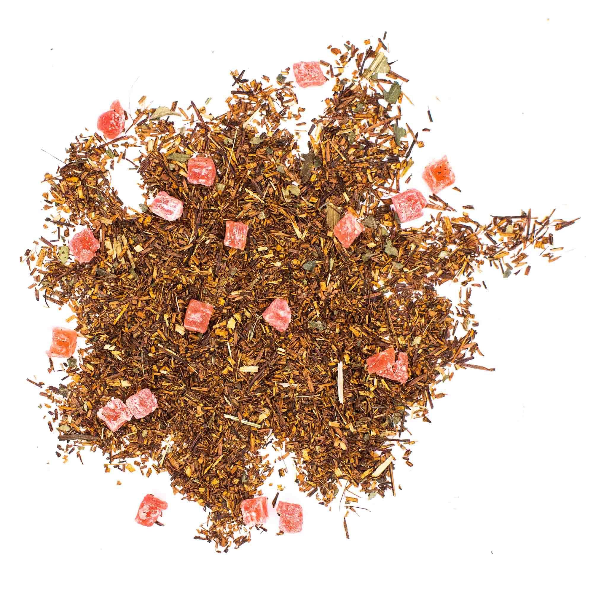 """Фруктовый, ягодный чай """"Ройбуш земляника со сливками"""" 100гр, чайный напиток на основе ройбоса chayroibushzemlyanichnii-teastar.jpg.jpg"""