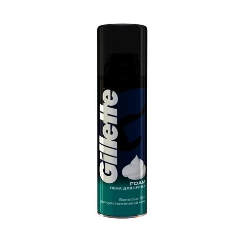 """Пена для бритья """"Gillette"""" Sensitive Skin для чувствительной кожи 200мл"""