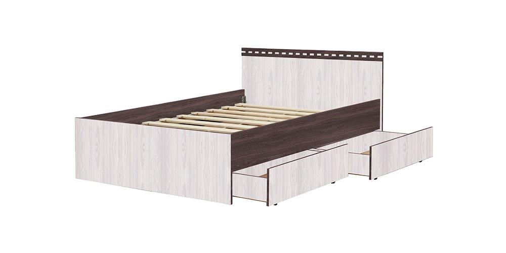 Кровать «Ольга-13»  900 (анкор темный/анкор светлый), ЛДСП, Фант-мебель, г. Волжск