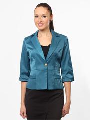 N503 пиджак женский бирюзовый