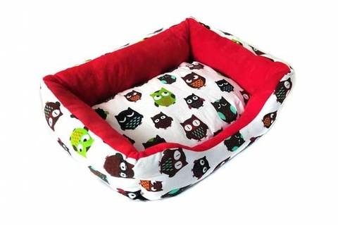 Прямоугольный лежак для животных Совушки, 40х32х10 см