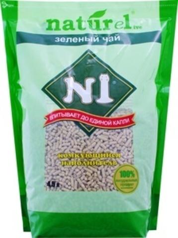 N1 Naturel Зеленый чай - комкующийся наполнитель