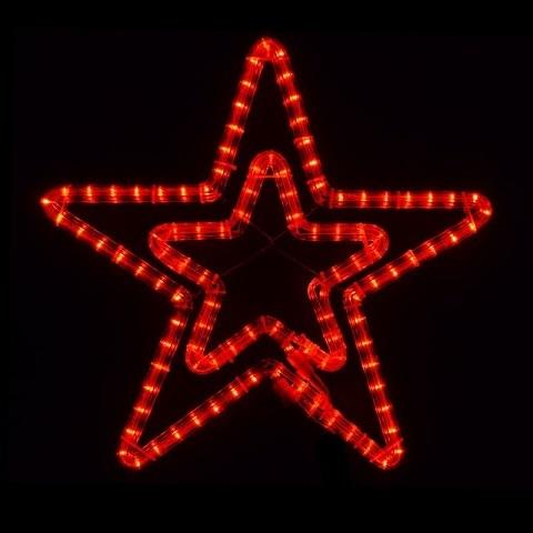 Звезда светодиодная d-55 см. Красная мерцающая